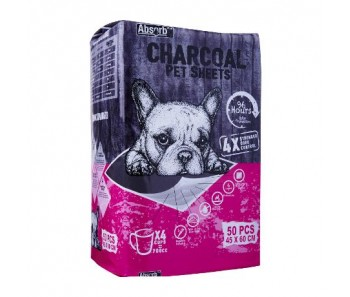 Absorb Charcoal Plus Pet Sheets  45 x 60cm - 50pcs