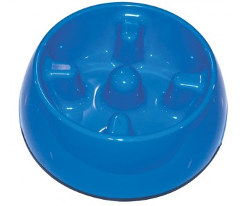 Dogit Go Slow Anti-Gulping Dog Dish Blue - Available in XS, S, M & L