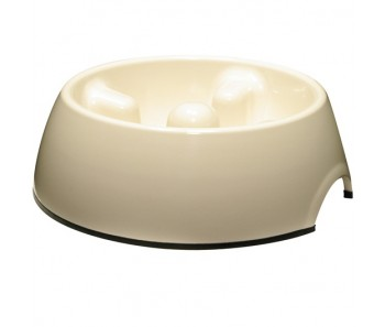 Dogit Go Slow Anti-Gulping Dog Dish White - Available in XS, S, M & L