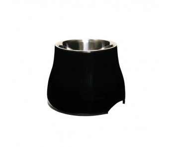 Dogit Elevated Dog Dish Black - Available in S & L