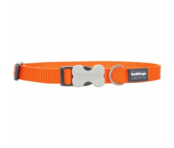 Red Dingo Dog Collar Classic - Orange - Available In S, M, ML & L