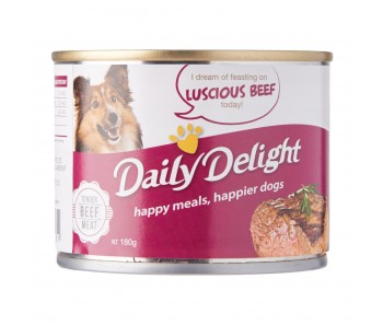 Daily Delight Dog Canned Luscious Beef - 180g