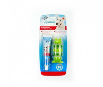 All For Paws - Sparkle Self Brushing Frog with Peanut Butter Toothpaste