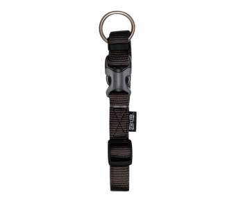 Zeus Adjustable Nylon Dog Collar - 99500 Charcoal - Available in S, M & L