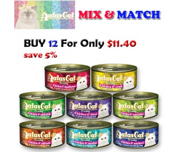 """Aatas Cat Can Bundle Mix - Buy 12 for only $11.40"