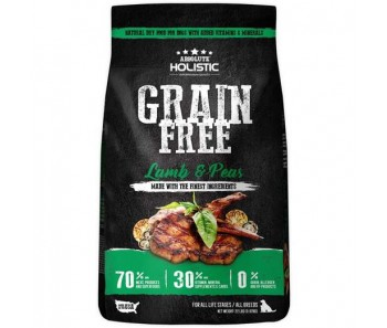 Absolute Holistic Dog Grain-Free Lamb & Peas 22lb  (With Free 8 cans of Raw Stew) GSS Promotion