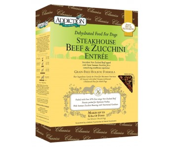 Addiction Dehydrated Steakhouse Beef & Zucchini Entree - Available in 2lbs & 8lbs