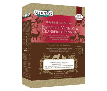 Addiction Dehydrated Homestyle Venison & Cranberry Dinner - Available in 2lbs & 8lbs