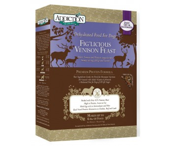 Addiction Dehydrated Fig'licious Venison Feast - Available in 2lbs & 8lbs