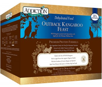 Addiction Dehydrated Outback Kangaroo Feast - 8lbs