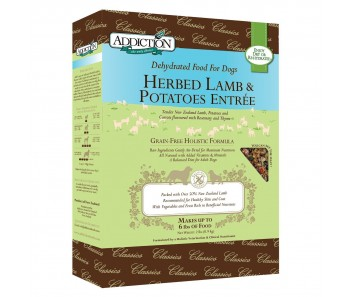 Addiction Dehydrated Herded Lamb & Potates - Available in 2lbs & 8lbs