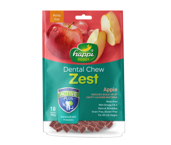 "Happi Doggy Dental Chew Zest Apple - Petite 2.5"" 150g"