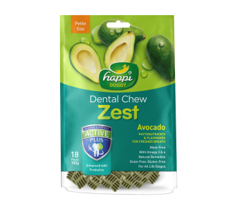 "Happi Doggy Dental Chew Zest Avocado - Petite 2.5"" 150g"