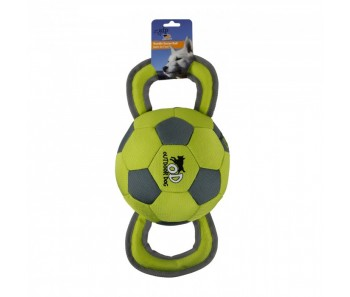 All For Paws - Outdoor Dog Ballistic Handle Ball - Green