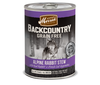 Merrick Dog Canned Back Country Grain Free - Hearty Alpine Rabbit Stew 374g