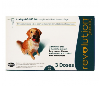 Revolution Topical Spot On for Dogs 20.1 - 40kg (Teal) 3 Doses