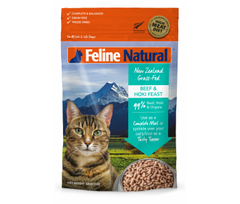 Feline Natural Freeze Dried Beef & Hoki - Available in 320g & 960g