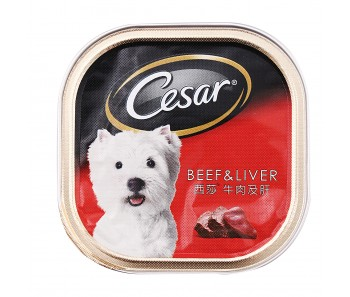 Cesar Beef & Liver 100g