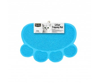 Kit Cat Litter Trapping Mat (Large) - Blue
