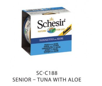 Schesir Cat Canned Senior Tuna with Aloe 85g