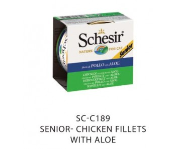 Schesir Cat Canned Senior Chicken Fillets with Aloe 85g