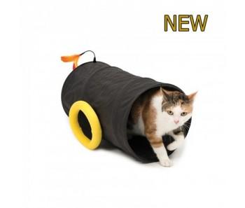 Catit Play Pirates Cat Cannon Tunnel Black