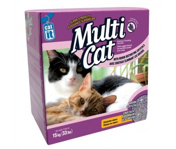 Catit Cat Clumping Litter Multi Cat - Lavender Scent 15 kg (33 lbs)