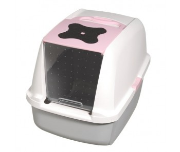 Catit Hooded Cat Pan Regular - Available in Pink, Blue & Gray