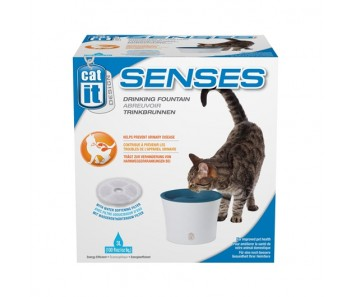 Catit Design Senses Drinking Fountain with Water Softening Filter - 3 L (50761)