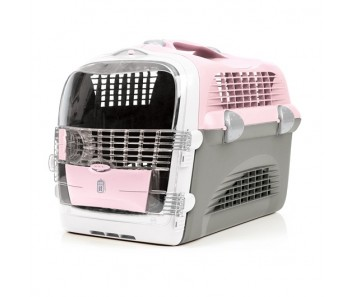 Catit Design Cabrio Cat Multi-Functional Carrier System - Pink/Gray