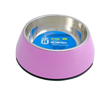 Catit 2-in1 Cat Dish Pink - Available in XS & S