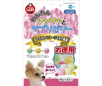 Marukan Tasty Fruits,Milk & Yogurt Sherbet for Dog 16gx23 [DP811]