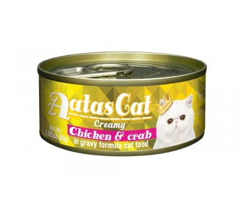 Aatas Cat Canned Creamy Chicken & Crab 80g