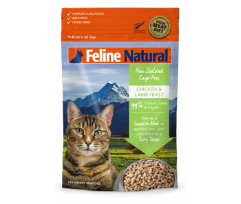 Feline Natural Freeze Dried Chicken & Lamb - Available in 320g & 960g
