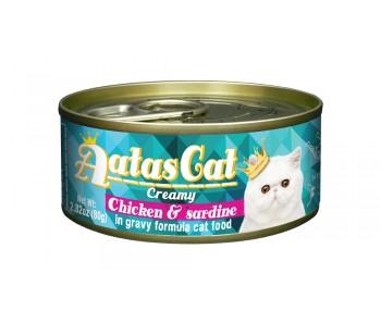 Aatas Cat Creamy Chicken & Sardine 80g