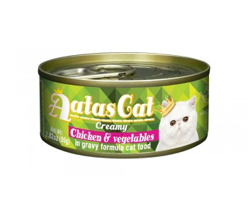 Aatas Cat Canned Creamy Chicken & Vegetables 80g