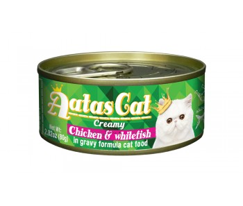 Aatas Cat Canned Creamy Chicken & Whitefish 80g