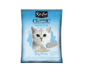 Kit Cat Classic Clump Baby Powder Cat Litter 10 L/7 kg