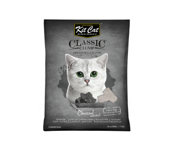 Kit Cat Classic Clump Charcoal Cat Litter 10 L/7 kg