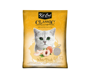 Kit Cat Classic Clump White Peach Cat Litter 10 L/7 kg