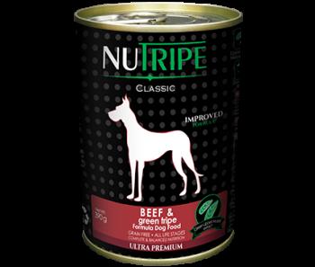 Nutripe Dog Canned Classic Beef & Green Tripe Formula 390g