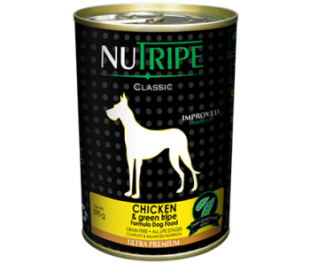 Nutripe Dog Canned Classic Chicken & Green Tripe Formula 390g