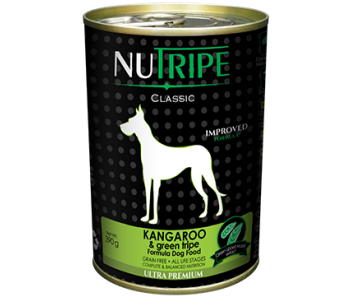 Nutripe Dog Canned Classic Kangaroo & Green Tripe Formula 390g