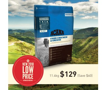 Acana Heritage Cobb Chicken & Greens - 11.4kg