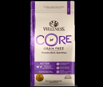 Wellness Cat Core® Kitten Deboned Turkey, Turkey Meal & Deboned Chicken - Available in 2lbs & 5lbs