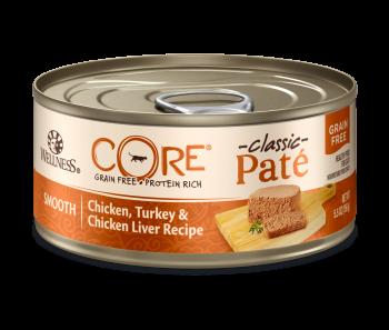 Wellness Cat Canned CORE® Pâté Chicken, Turkey & Chicken Liver 5.5oz