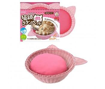 Marukan Cat Hemp Cat-shaped Bed Pink [CT343]