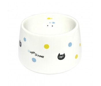Marukan Easy Eat Ceramic Cat Dish [CT415]