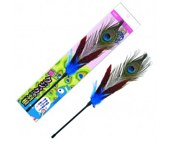 Marukan Cat Teaser Peacock Feather [CT435]