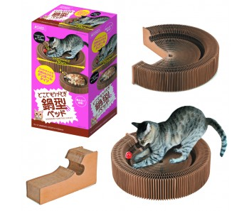 Marukan Collapsible Cat Scratcher Bed [CT437]